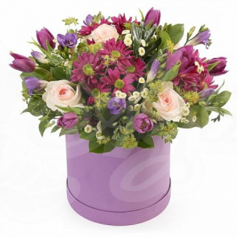 Коробочка цветов Микс