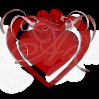 Открытка Сердце средняя