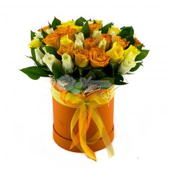 Коробочка из 45 роз Кения