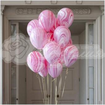 Фонтан из шаров «Розовые агаты»