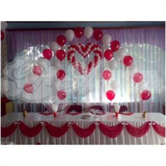 Оформление шарами на свадьбу «Комплект № 5»